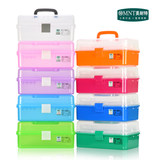 Germany Minnet transparent plastic nail art toolbox portable pupils painting large three-tier storage box