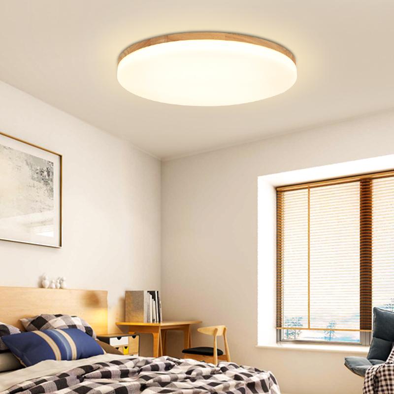 北欧超薄餐厅厨房日式圆灯吸顶灯圆形卧室灯简约现代led客厅灯具