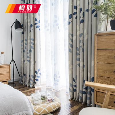 韩式田园现代简约客厅阳台卧室飘窗帘遮光印花布艺定制窗帘布成品