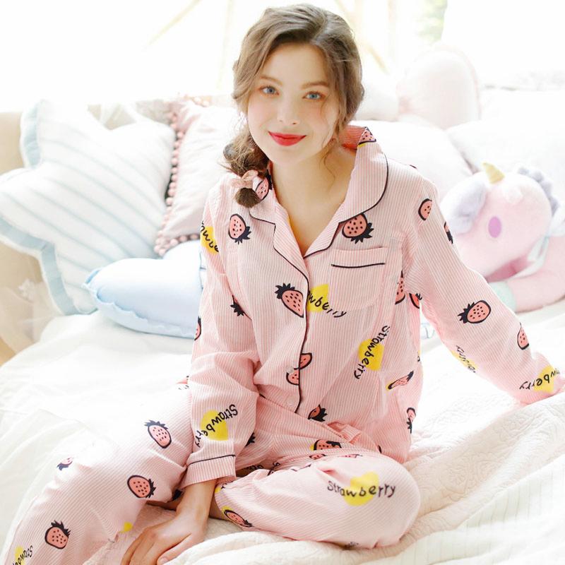 梦蜜夏季薄款纯棉纱布月子服产后哺乳衣春秋孕妇睡衣产妇喂奶睡衣