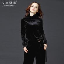 2018秋冬新款金丝绒高领韩版女装上衣长袖大码加绒加厚打底衫百搭图片