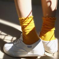 花边堆堆袜子女韩国春夏长袜中筒韩版薄款学院风日系推推夏季长款
