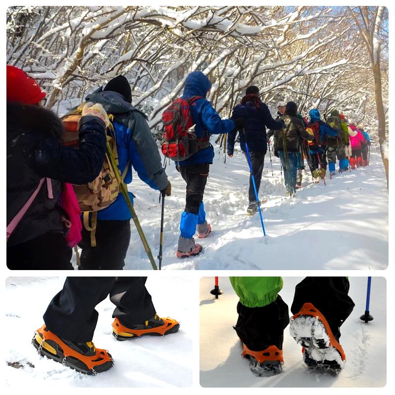 秋冬户外用品登山冰爪防滑鞋套地套雪爪雪地冰抓攀岩8齿锰钢冰爪