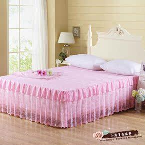 新款床裙 韩式印花公主蕾丝床罩 防尘床笠床垫保护罩床单厂家直销