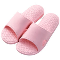 Buy one get one free couple indoor sandals and slippers female summer home bathroom anti-skid soft bottom bath shower slippers men summer