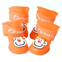 Dog rain boots waterproof small dog Cat Teddy puppy shoes set puppies than bear feet set pet shoes set of 4