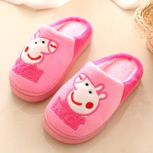 儿童棉拖男童鞋子防滑女宝宝拖鞋卡通可爱小孩拖鞋冬季2-3-4岁半1