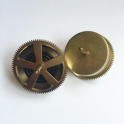 北极星31天机芯发条盒 机械钟表配件老式上弦座钟落地钟表零件