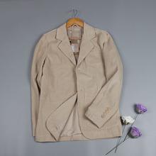 清仓特价春秋装灯芯绒英伦条绒休闲男装纯色修身灯芯绒西装外套