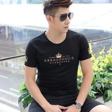 2018新款夏季纯棉男士短袖t恤打底衫男装圆领体恤潮流半袖上衣服