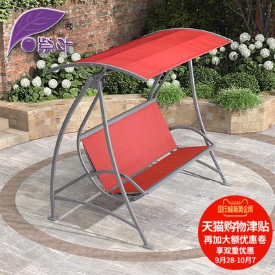 户外秋千三人吊椅铁艺阳台藤椅室外庭院花园室内双人摇椅吊篮