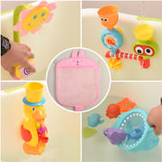 Baby bath toys children small yellow ducks play water toys baby swimming shower toys vibrato with the same storage bag