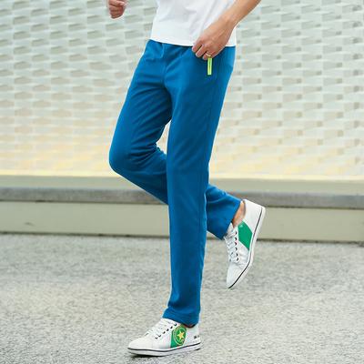 青少年休闲裤男学生秋长裤男士直筒大码针织卫裤加绒运动跑步裤子
