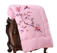 婚庆冬被子加厚粉红色被子双人春秋丝棉被绣花被芯结婚送礼用床品