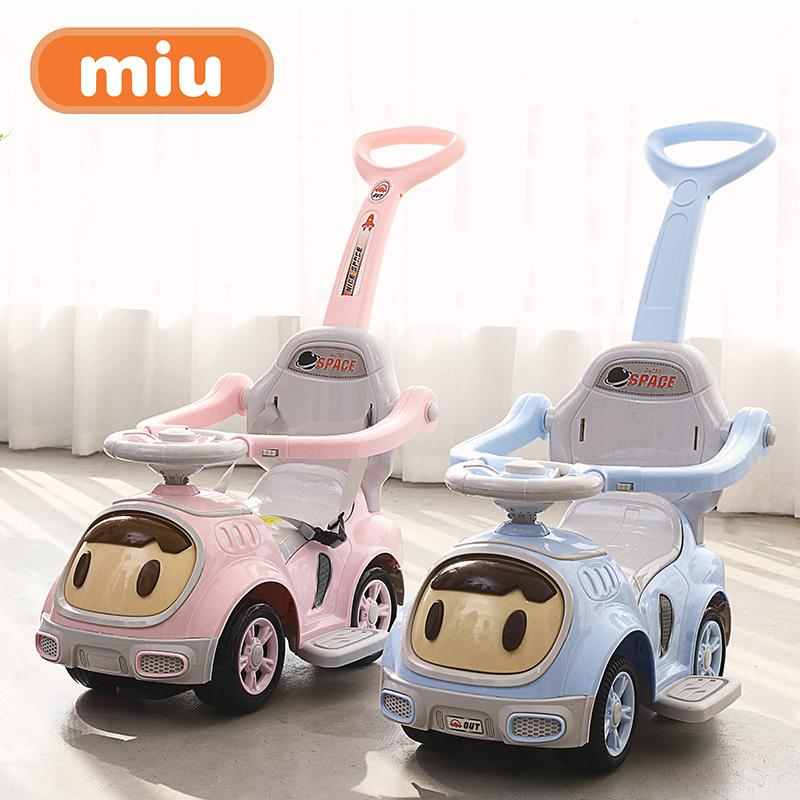 miu儿童手推扭扭车1-3-5岁宝宝溜溜滑行车带音乐静音轮四轮学步车