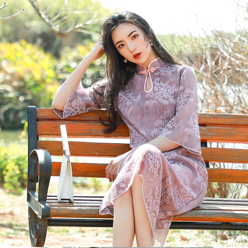 红彩衣HCY19065旗袍