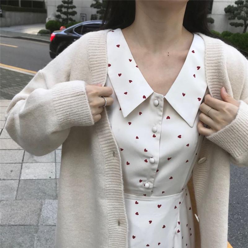 韩版少女系连衣裙