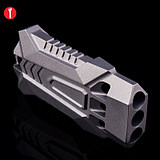 Titanium alloy survival whistle outdoor high frequency whistle pop whistle high pitched wild survival child whistle