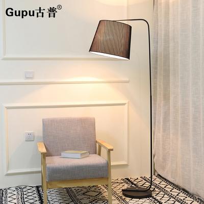 钓鱼落地灯客厅卧室床头书房美式北欧简约创意led遥控立式台灯