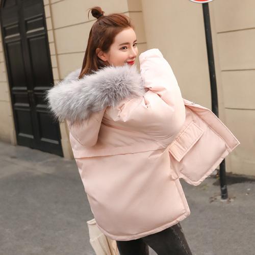 棉服外套韩版冬季女装反季节加厚短款棉袄ulzzang学生大毛领棉衣