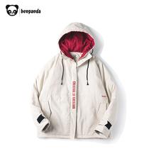 熊猫本 冬季棉服OVERSIZE男加厚情侣工装外套ins冬装国潮牌棉衣男