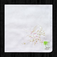 Japanese embroidery female handkerchief cotton gauze sweat-absorbent female hand 绢 single-sided embroidery cotton double-layer thick lily of the valley orchid