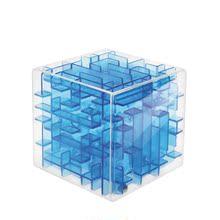 玩具迷你趣味迷宫魔方迷宫用品方形清新珠子透明轨道智能新款