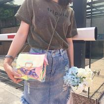 夏季新款时尚学生百搭女士韩版单肩包斜挎包女包手提包小清新2017