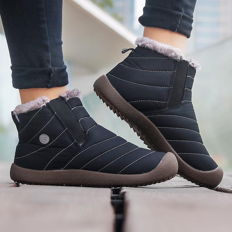 2018冬季新款加绒保暖男士棉鞋男防水潮休闲大码雪地靴男马丁男靴