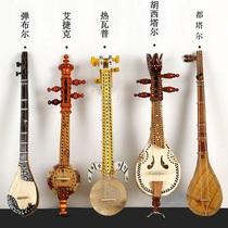新疆旅游纪念维吾尔族手工制作本土民族乐器5件套弹布尔热瓦普等