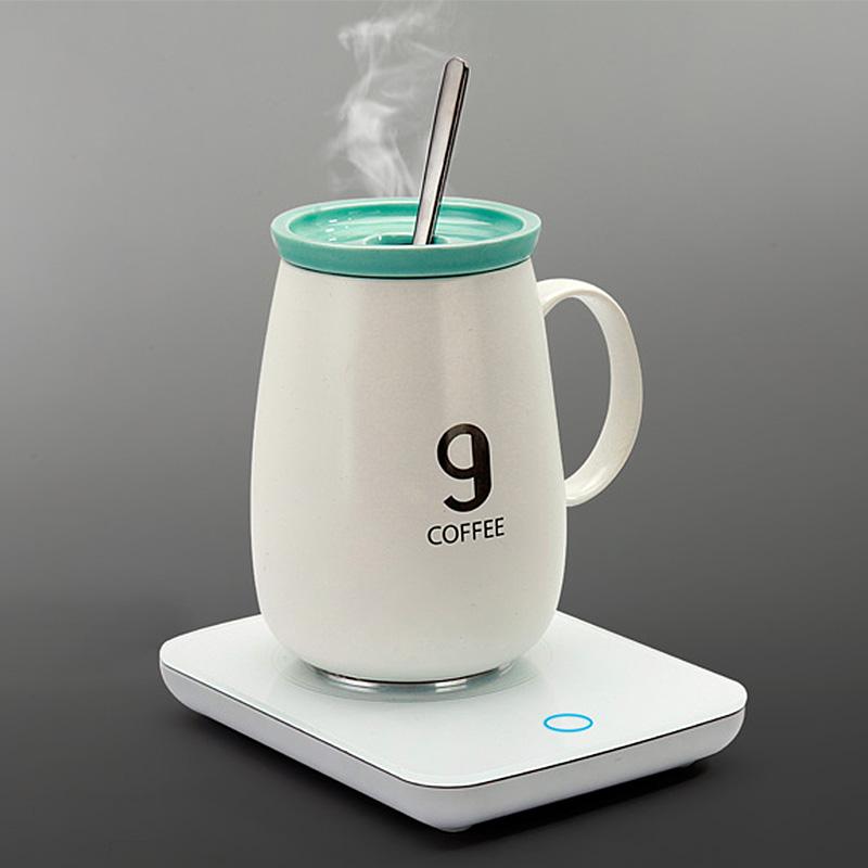 ✅55度恒温杯热牛奶加热水杯器家用杯垫加热器暖暖杯七夕礼物55度
