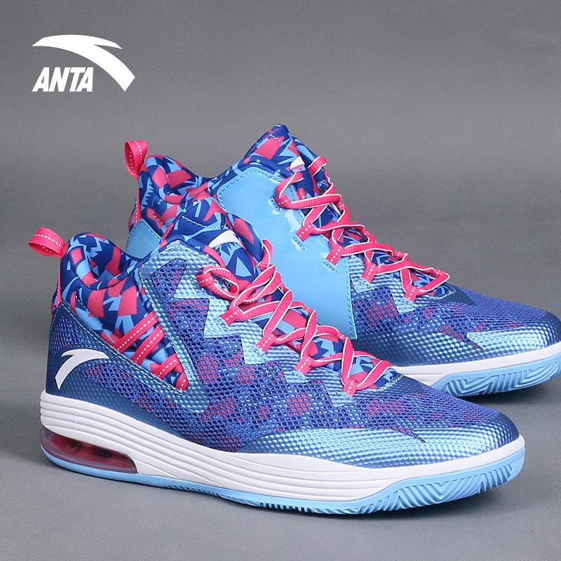ANTA安踏篮球鞋男鞋2018春季气垫球鞋汤普森高帮耐磨运动鞋男正品