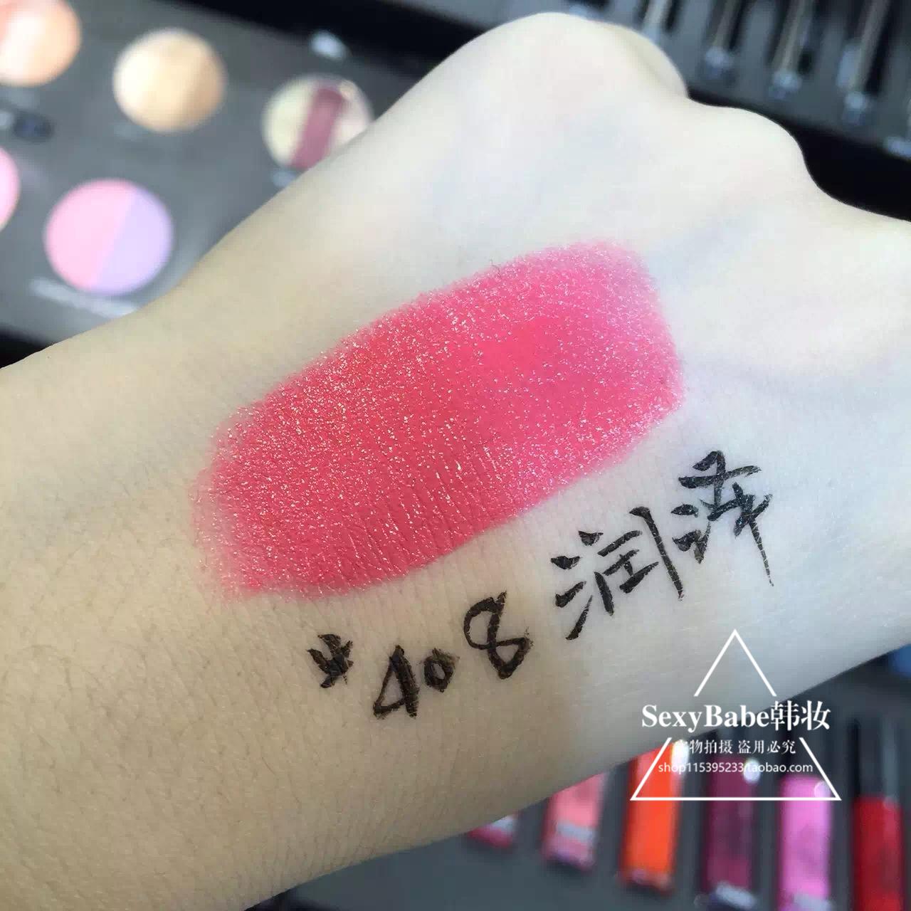 正品代购包邮韩国代购3ce口红黑管润泽系列 桃粉色 持久滋润 #408