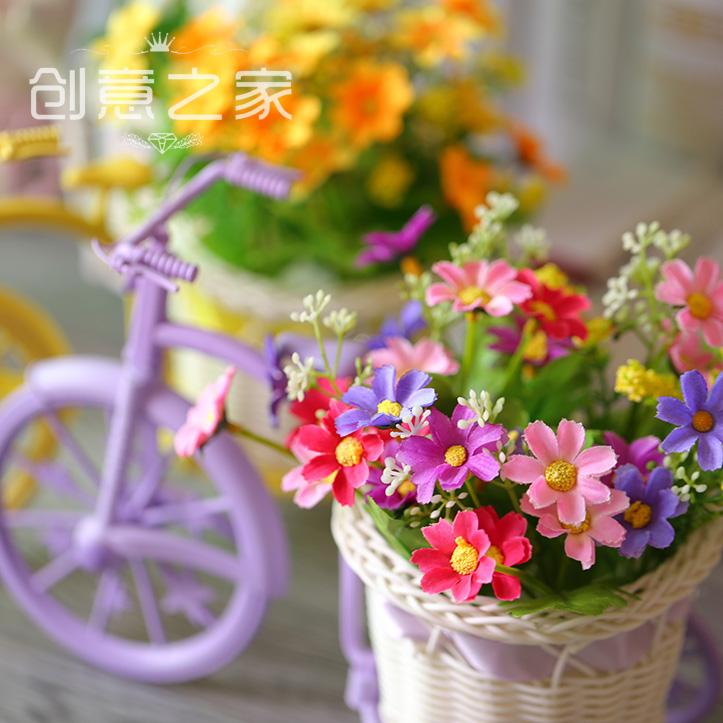 家居装饰品 欧式迷你花车自行车单车摆件 珠宝眼镜手机柜台装饰品