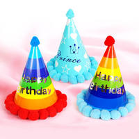 Children's birthday party hat birthday supplies ball polka dot hat baby birthday party hat layout pointed hat