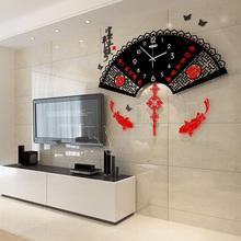 个性 饰时钟艺术挂 美世达中国风客厅静音挂钟现代时尚 创意钟表