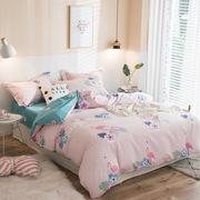 2018年春夏新品活性印花四件套纯棉斜纹床单床笠多规格床品套件