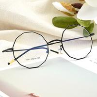 个性多边形不规则原宿风平光近视眼镜框女韩版潮素颜复古文艺丹阳