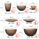 European-style tableware set of 46 French import DURALEX multi-les tempered glass bowl set