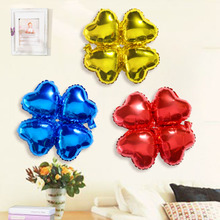 Birthday party products, children's birthday decoration, aluminum foil balloon, cartoon clover, aluminum foil balloon.