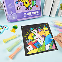 Sand painting children color sand boy baby DIY handmade puzzle rocking sand sand fine sand suit toy girl
