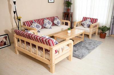 定制简约现代方几新品实松木沙发客厅沙发床田园贵妃转角组合沙发有假货吗