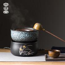 容山堂 陶瓷煮茶器 分茶勺温茶器干泡碗茶滤电陶炉煮茶炉碗泡茶具