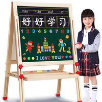 Children's drawing board magnetic children's small blackboard bracket type home double-sided primary school girl baby child writing board