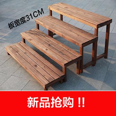 实木台阶多肉花架长条板凳多层阳台阶梯防腐木质花架子盆栽花盆架