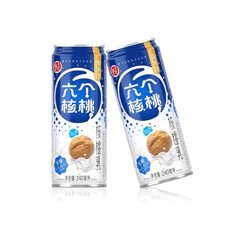 【王源】六个核桃全新包装精典型240ml*16罐全核桃冷萃工艺饮料