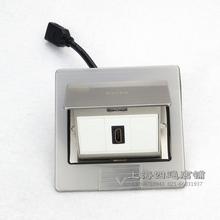 不銹鋼地插座 HDMI3D高清4K超清插座帶延長線 彈起式方形地插