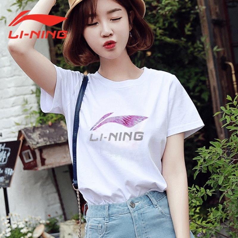 李宁短袖T恤女子2019新款运动时尚系列吸汗女装夏季短装运动服