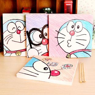 哆啦A梦叮当猫涂鸦本学生文具韩国美术绘画画本子空白本素描速写