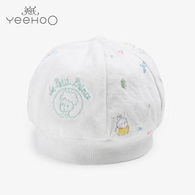 英氏童装纯棉帽子小王子系列新生儿圆帽 男女宝宝 婴儿帽 174207